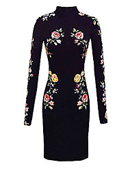 Belt Women's Floral Print Dress