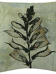 Set of 2 Green Transparent Plant Velvet Decorative Pillow Cover