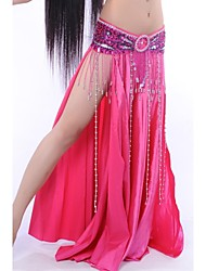 Belly Dance Skirts Women's Performance Elastic Silk-like Satin Natural