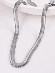 eruner®unisex 6мм плоский змея цепи серебряные цепи ожерелье № 123
