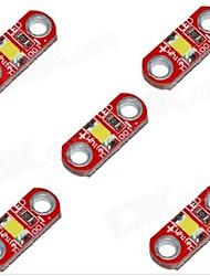 HZLED 5V 40mA 3000K 400-500MCD Warm White Mini 3000K LED Module - Red (5 PCS)