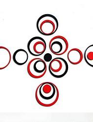 stickers muraux Stickers muraux, mode couleur mélangée bricolage 15 cercles sticker mural acrylique miroir métallique