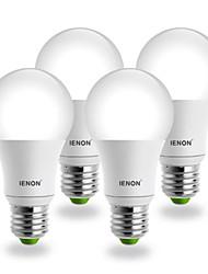 E26/E27 LED Globe Bulbs G60 COB 560-630 lm Warm White AC 100-240 V 4 pcs