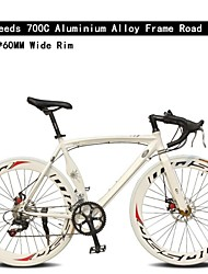 Road Bike Cycling 7 Speed 26 Inch/700CC 60mm Unisex / Men's / Women's SHIMANO TX30 Double Disc Brake Ordinary Monocoque Ordinary/Standard