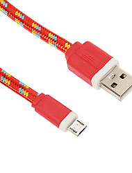 Micro USB Weaving Noodle Charger Cable