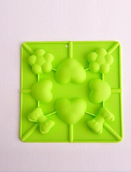 8 Hole Heart Bow Shape Cake Ice Jelly Chocolate Molds