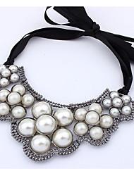 xunli Frauen alle Spiel Vintage-Perlen kurze Halskette