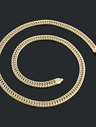 Figaro 60 centímetros homens cadeia dourado chapeado colares de cadeia (7,5 milímetros de largura)