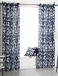 um painel neoclássico florais botânicos azul quarto cortinas de painel de poliéster cortinas