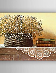 Oil Painting Still Life  Flower  on Table  Painting Hand Painted Canvas with Stretched Framed