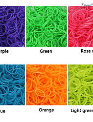 BaoGuang®600PCS Rainbow Color Loom Fluorescent Fashion Loom Rubber Band(1Package S Clip,Assorted Colors)
