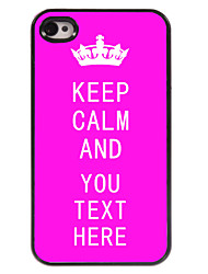 caja personalizada rosa mantener caso del diseño del metal tranquilo para el iphone 4 / 4s