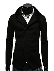 Men's slin Men Hooded Jacket Personality Suit pocket Knitting Fashion  coat