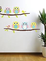 stickers muraux autocollants de mur, plusieurs jeux d'oiseau avec arbre pvc stickers muraux.