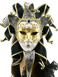 nero argento stile veneziano adesivi fatti a mano Oro maschera arazzo jacquard di carnevale
