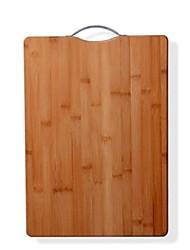 tábua de cortar bambu, bambu 24 × 34 × 18 cm (9,5 × 13,4 × 7,1 polegadas)