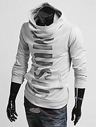 letras de personalidade de estilo coreano dos homens impressa do hoodie manga