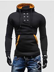 Men's Long Sleeve Hoodie & Sweatshirt , Cotton/Polyester