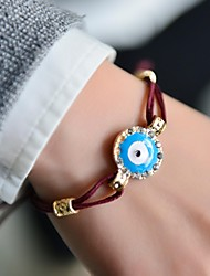 Fashion Women Enamel Stone Set Evil Eye Bracelet