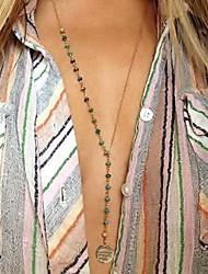 sencillo collar de turquesa natural de mano con cuentas de las mujeres