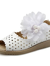 Girl's Sandals Summer Peep Toe / Comfort / Slingback / Round Toe / Open Toe Leather Outdoor / Casual / Athletic Flat HeelSatin Flower /