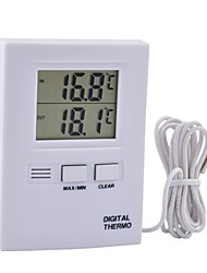 Digital Thermometer with Probe, LCD ℃ or ℉ Display,Hang on The Wall or Stand on The Table