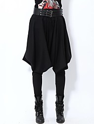 Women's Black Loose/Harem Pants , Casual/Plus Sizes