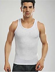 esportes masculinos casuais marca abetos comerciais de moda de algodão 100% camisetas colete homens cinzentos