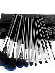 10 Makeup Brushes Set Mink Hair Face / Lip / Eye