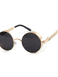 Sunglasses Men / Women / Unisex's Classic / Retro/Vintage / Sports Round Black / Silver / Brown / Gold Sunglasses Full-Rim