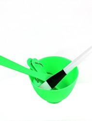 4-en-1 verte bricolage masque facial fabricant de définir avec une brosse de 1pc