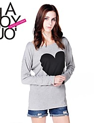 Women's Gray Blouse Long Sleeve