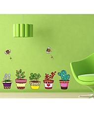 stickers muraux stickers muraux, des plantes en pot muraux PVC autocollants