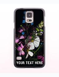 personalisierte-Tasche - Blumen-Design Metallgehäuse für Samsung-Galaxie s5 Mini