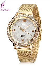 Women Watches Fashion Roman Number Rose Gold Rhinestone Quartz Watches Women Cool Watches Unique Watches