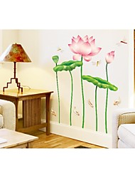 Wall Stickers Wall Decals, Style Lotus PVC Wall Stickers