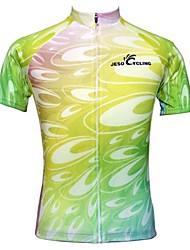 JESOCYCLING® Maillot de Cyclisme Femme Manches courtes Vélo Respirable / Séchage rapide / Antidérapage Maillot / Hauts/Tops100 %