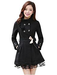 stile coreano modello midi cappotto delle donne