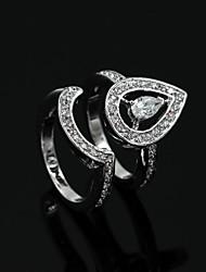 Women Silver Alloy Casul Rings Set