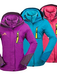 Women's 3-in-1 Jackets Waterproof Thermal / Warm Windproof Single Slider 3-in-1 Jackets Woman's Jacket Winter Jacket Tops for Camping /