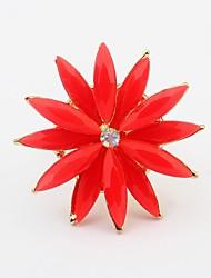 couleurs de bonbons doubles couches fleurs des femmes anneau de déclaration mignon