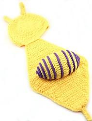 PC 1 foto fotografía del bebé de los apoyos niño caracol amarillo muchacha del bebé de la gorrita tejida traje sombreros animales Gorro de lana 0-6