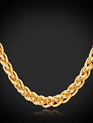 Femme Collier court /Ras-du-cou Colliers chaînes Plaqué or Alliage Mode bijoux de fantaisie Bijoux Pour Mariage Soirée Quotidien