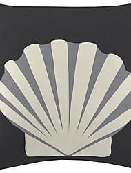 Shell Pattern Velvet Decorative Pillow Cover
