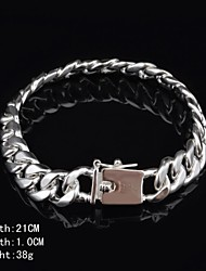 Fashion Sterling Silver Men's Bracelet Jewelry