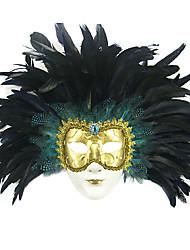 dipinto a mano stile mascherina di travestimento della piuma veneziana per il carnevale