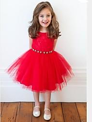 Mädchen Kleid einfarbig Baumwollmischung Sommer