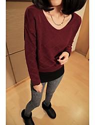 uoar outono e inverno pullover feminino camisola all-jogo korea magro v levou treliça backing um parágrafo curto camisola