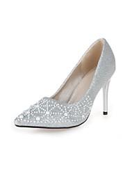 Scarpe Donna - Scarpe col tacco - Ufficio e lavoro / Formale - Tacchi / A punta - A stiletto - Finta pelle - Argento / Dorato