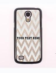 personalisierte Telefon-Tasche - weiss Ripple Design-Metall-Fall für Samsung-Galaxie s4